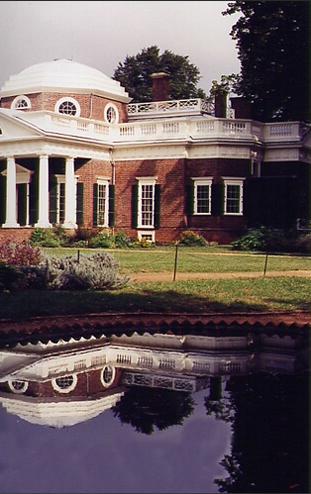 Monticello Rain Puddle Reflection